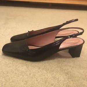 Naturalizer Black Leather Slingback Shoes
